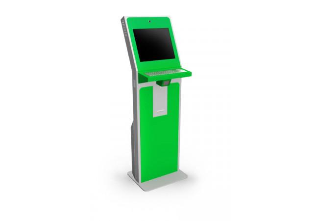 Информационный киоск зеленый